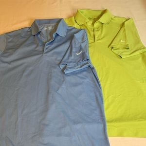 Two Medium Men's Nike Golf Dri-fit Polos